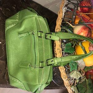 COACH Green Hamptons Satchel Bag
